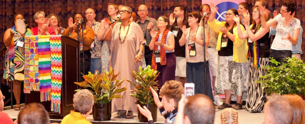 Bishop Flunder leads Coalition choir at the 2013 General Synod ONA Banquet in Long Beach, Calif.