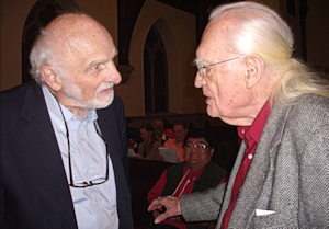Bob Koenig (right) with Walter Brueggemann